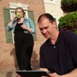 Using iPad Outside — Stock Video