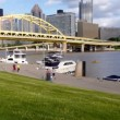 Pittsburgh City Skyline Time Lapse — Stock Video