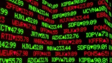 Fictional Stock Market Ticker Animation — Stock Video