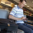 Man in Airport — Stock Video #27058553