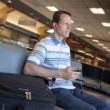 Man in Airport — Stock Video #27058693