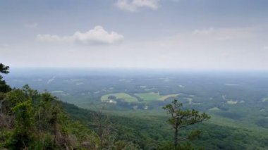 View from Pilot Mountain Time Lapse — Stock Video