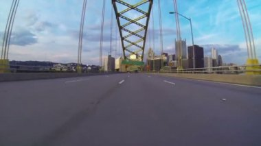 Pittsburgh City Driving — Stock Video