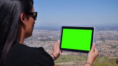 IPad Green Screen — Stock Video