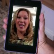 Stok video: Video Chat on Tablet PC