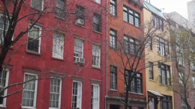 Manhattan byt zavedení shot — Stock video