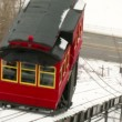 Stock Video: Duquesne Incline in Winter