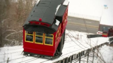 Duquesne Incline in the Winter — Stock Video
