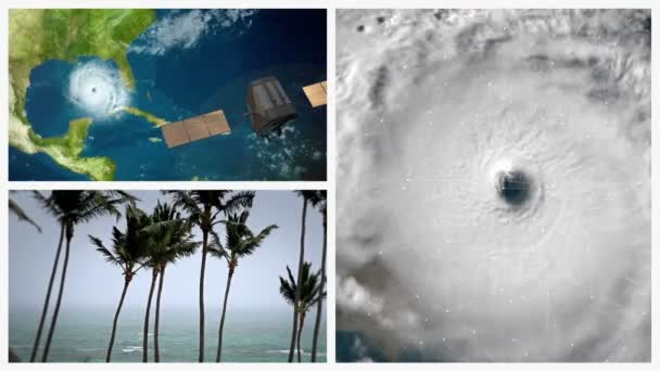 Montaje de huracán — Vídeo de stock