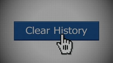 Clear History Button — Stock Video