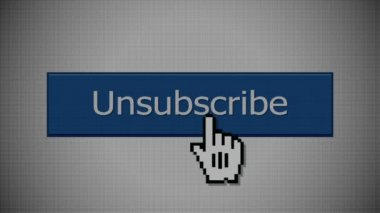 Unsubscribe Button — Stock Video