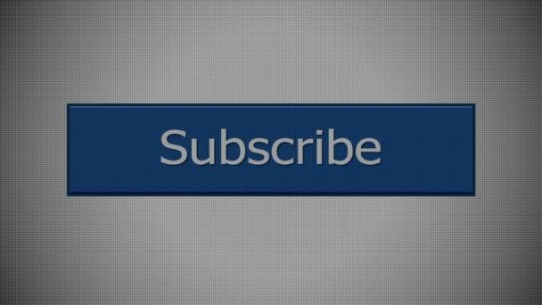 Suscribirse a botón — Vídeo de stock