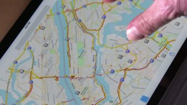 Map of New York City — Stock Video