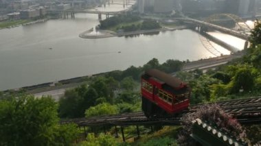 Duquesne Incline Morning — Stock Video