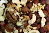 Assortment of tasty nuts — Stock Photo