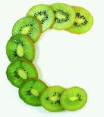 Kiwi segments vitamin C — Stock Photo