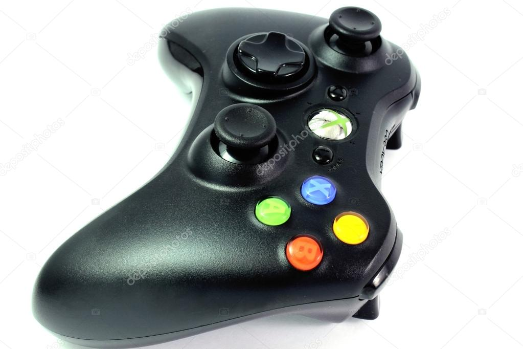Gamepad the black wireless game — Stock Photo #16985259