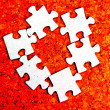 Puzzle fragment — Stock Photo