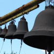 Stock Video: Bells on church belfry