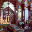 The orthodox church chancel — Stock Video