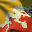 Flag of Bhutan Kingdom — Stock Video