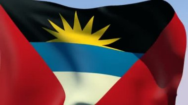 Flag of Antigua and Barbuda — Stock Video