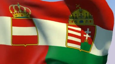 Flag of Austria-Hungary 1869-1918 — Stock Video