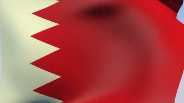 Flag of Bahrain — Stock Video