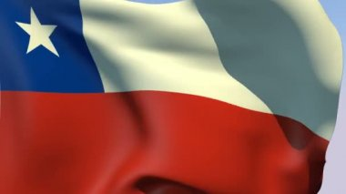 Flag of Chile Republic — Stock Video