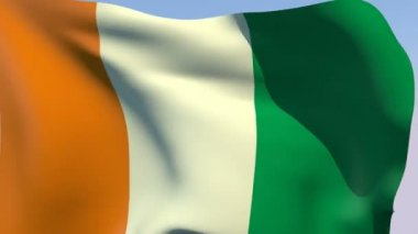 Flag of Cote d'Ivoire (Ivory Coast) — Stock Video