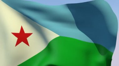 Flag of Djibouti Republic — Stock Video
