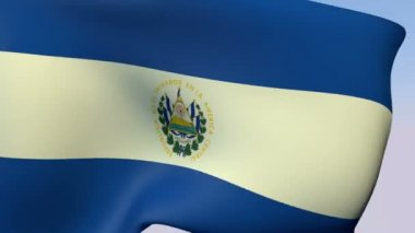 Flag of El Salvador Republic — Stock Video