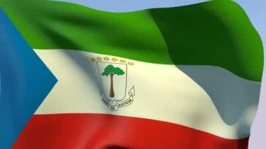 Flag of Equatorial Guinea — Stock Video