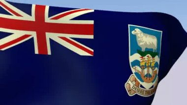 Flag of Falkland Islands — Stock Video