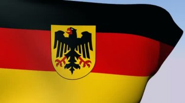 Flag of Germany Federal Republic — Stock Video