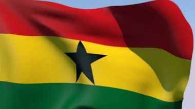 Flag of Ghana — Stock Video