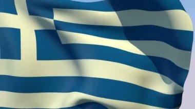 Vlag van griekenland — Stockvideo