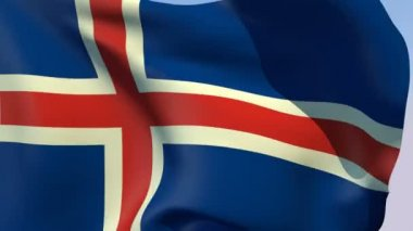 Flag of Iceland — Stock Video