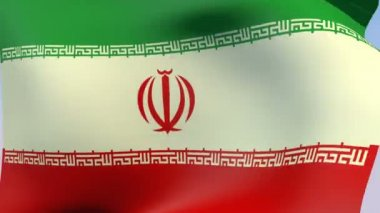 Flag of Iran Islamic Republic — Stock Video