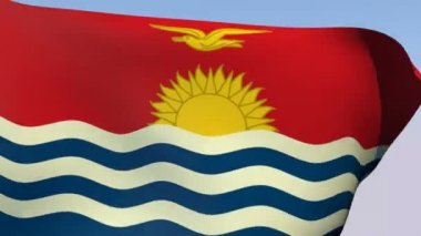 Flag of Kiribati — Stock Video