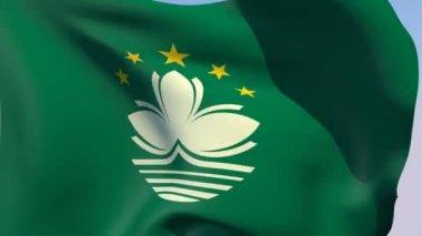 Flag of Macau — Stock Video