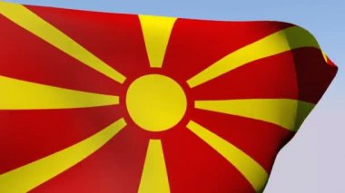 Flag of Macedonia Republic — Stock Video