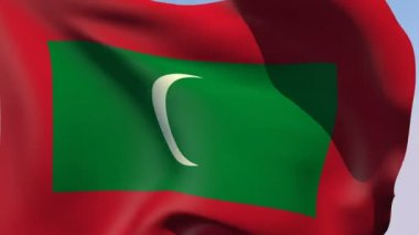 Flag of Maldives Republic — Stock Video