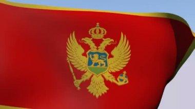 Flag of Montenegro — Stock Video