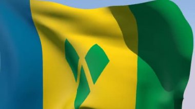 Flag of Saint Vincent and the Grenadines — Stock Video
