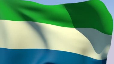 Flag of Sierra Leone — Stock Video