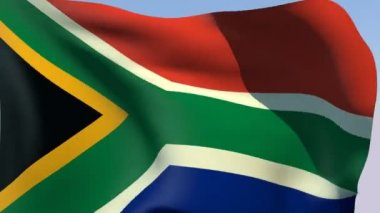 Flag of South Africa — Stock Video