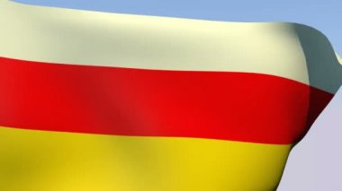 Flag of South Ossetia — Stock Video