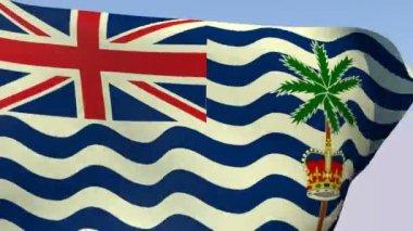Flag of the British Indian Ocean Territory — Stock Video
