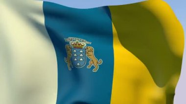 Flag of Canary Islands — Stock Video